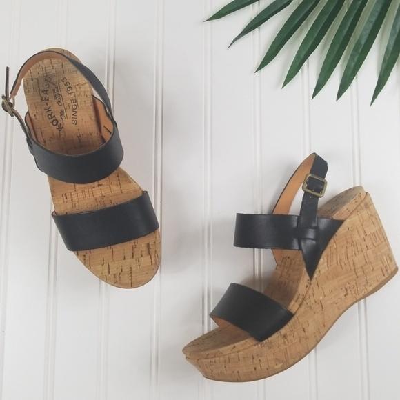 dd010bbdcfc Kork-Ease Shoes - Kork-Ease Austin Wedge Leather black 6